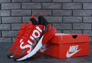 Кроссовки мужские NIKE AIR MAX 270 SUPREME RED/BLACK TOP REPLICA