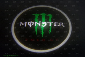 Проектор логотипа в двери авто Laser Door Light с логотипом Monster Energy
