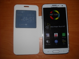 Samsung S5 4, 7 black white (2 sim, tv, java,wi-fi)