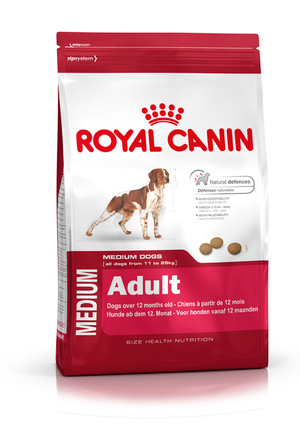 Корм для собак royal canin medium adult 15 кг.