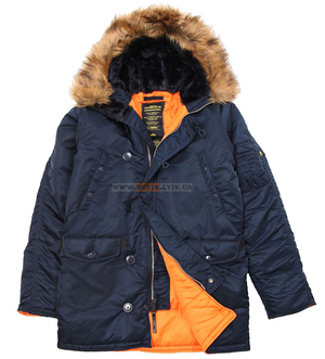 Оригинальная куртка аляска Slim Fit N-3B Parka, США